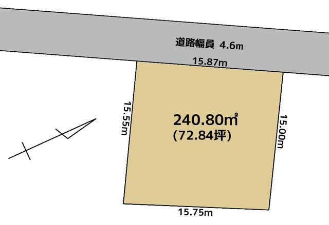石瀬売地区画図